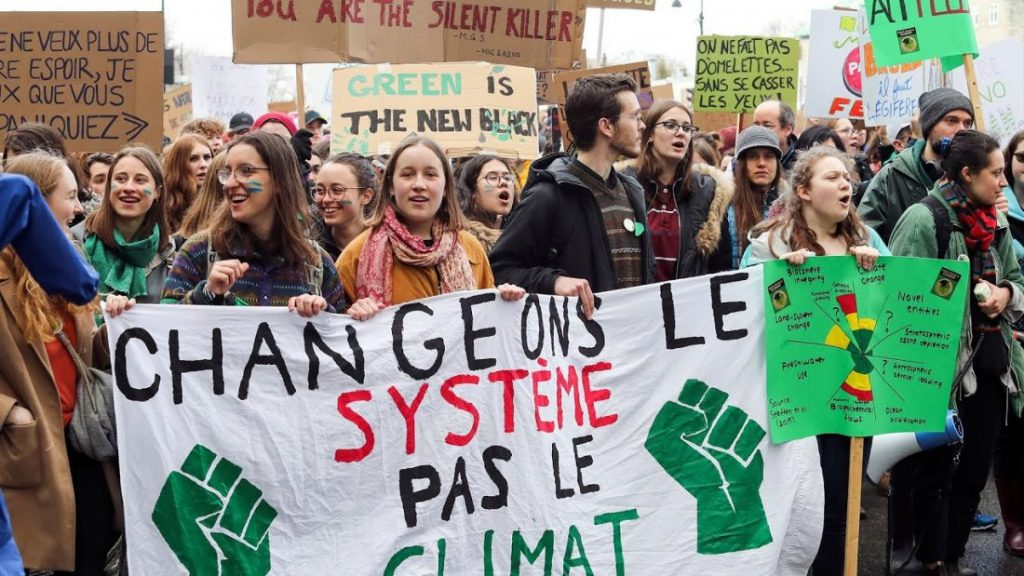 Climate strike protest in Quebec